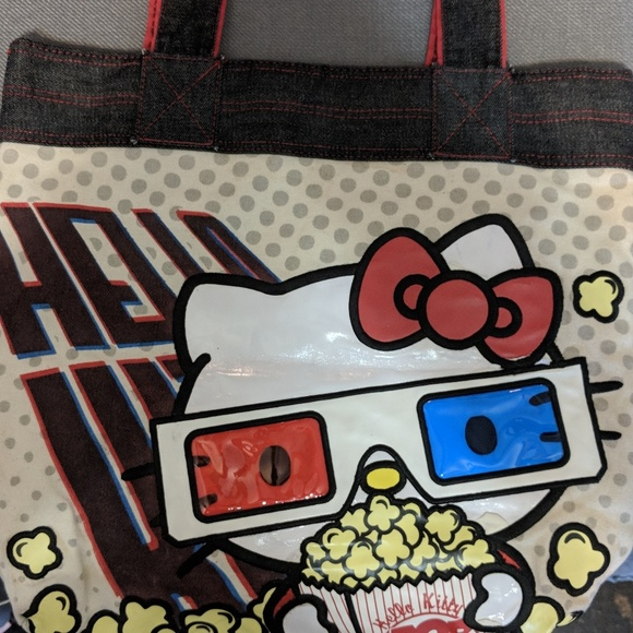 2e9483a43f9f Loungefly Handbags - Hello Kitty canvas movie tote bag with 3D glasses.